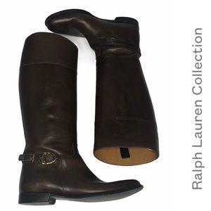 Ralph Lauren Collection Brwn KneeHigh Riding Boots